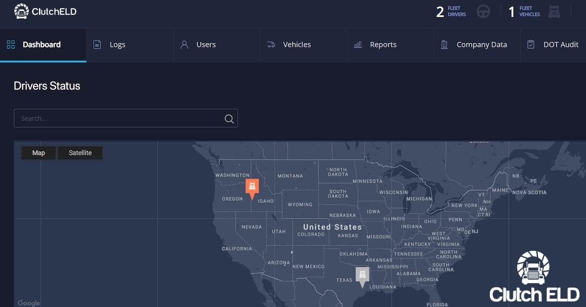 the Clutch ELD Web Portal
