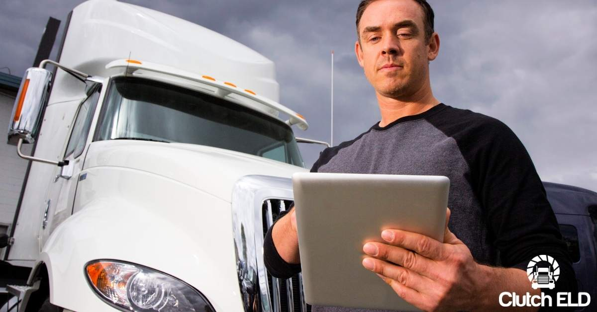 a truck driver staying connected to his family and friends using an ipad app